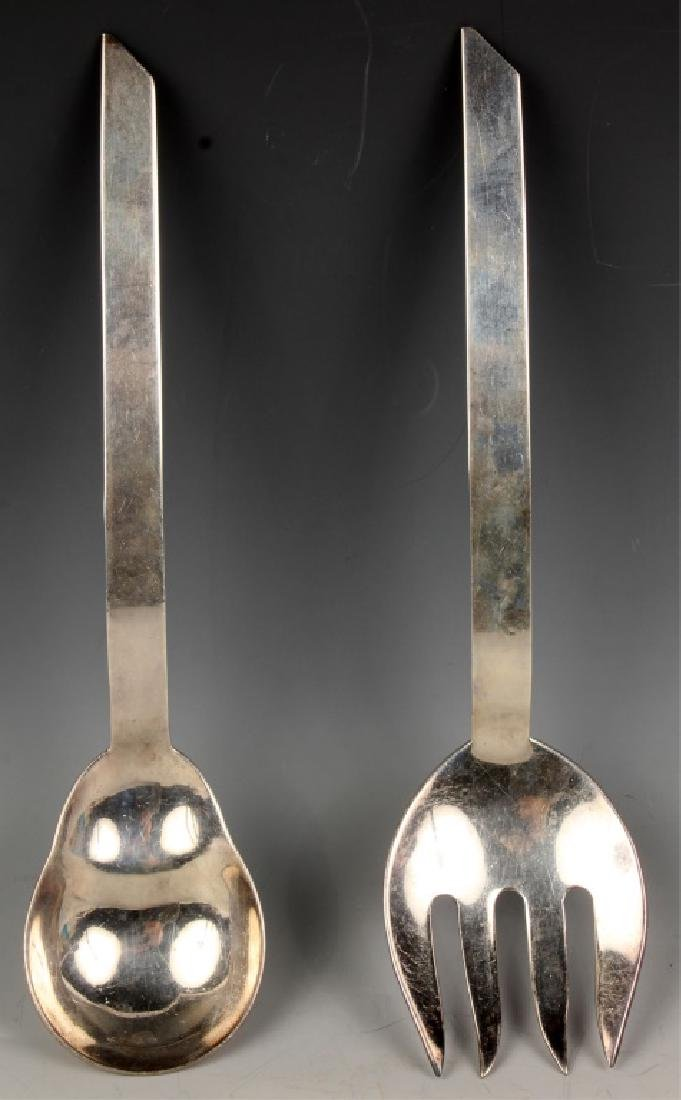 F. RAMIREZ MEXICAN STERLING SILVER SERVING SET