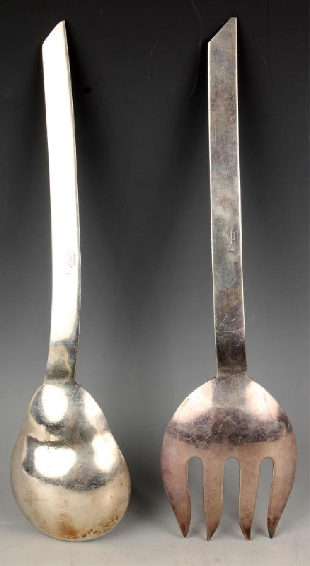 F. RAMIREZ MEXICAN STERLING SILVER SERVING SET - 2