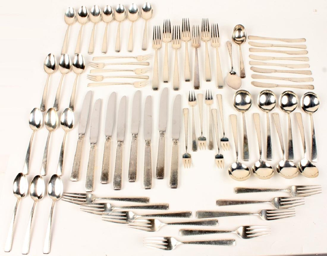 69 PC TOWLE STERLING SILVER OLD LACE FLATWARE SET