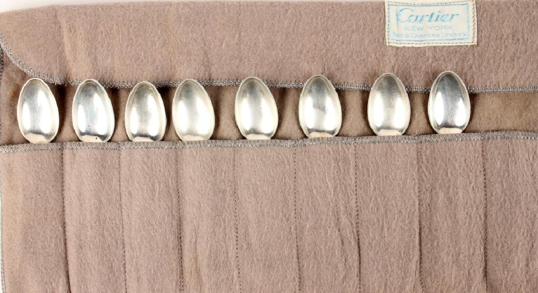 8 TOWLE CARTIER STERLING SILVER OLD MASTER SPOONS - 4