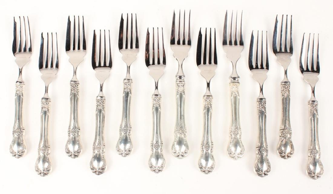 12 TOWLE CARTIER STERLING SILVER OLD MASTER FORKS
