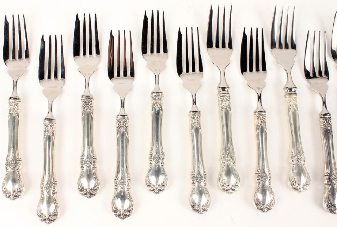 12 TOWLE CARTIER STERLING SILVER OLD MASTER FORKS - 2