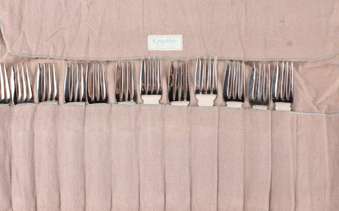 12 TOWLE CARTIER STERLING SILVER OLD MASTER FORKS - 5