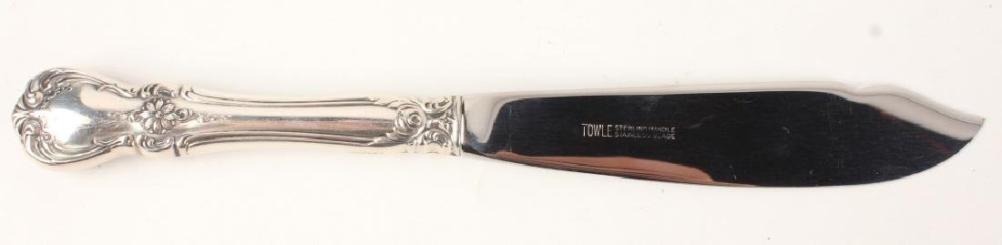 12 TOWLE CARTIER STERLING SILVER OLD MASTER KNIVES - 2