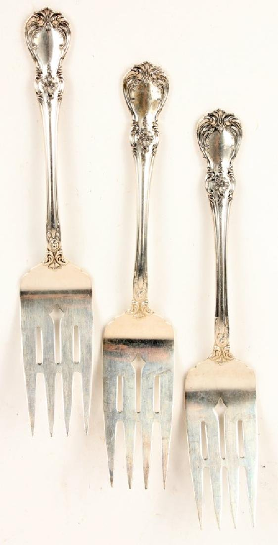 3 TOWLE CARTIER STERLING SILVER OLD MASTER FORKS