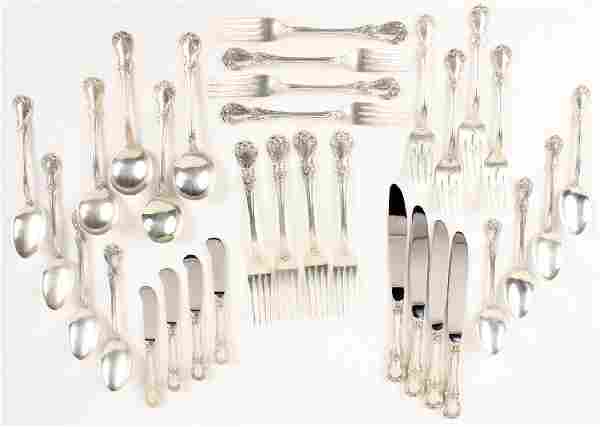 32 PC TOWLE CARTIER STERLING SILVER OLD MASTER SET