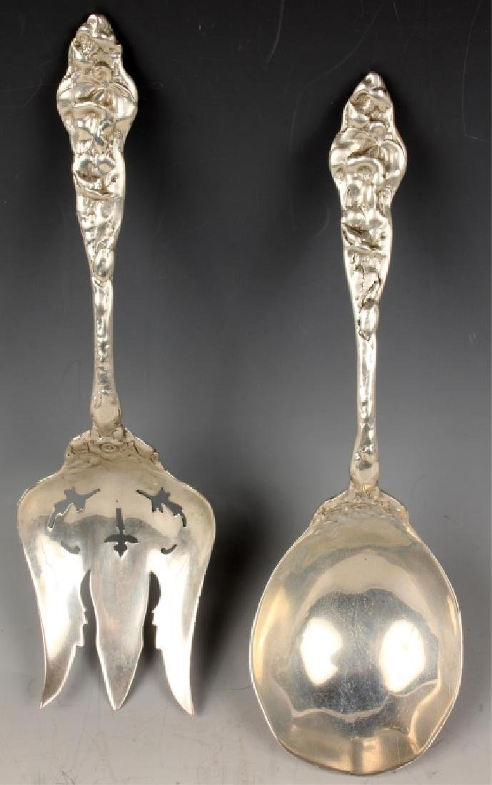 ANTIQUE AMERICAN STERLING SILVER SERVING SET