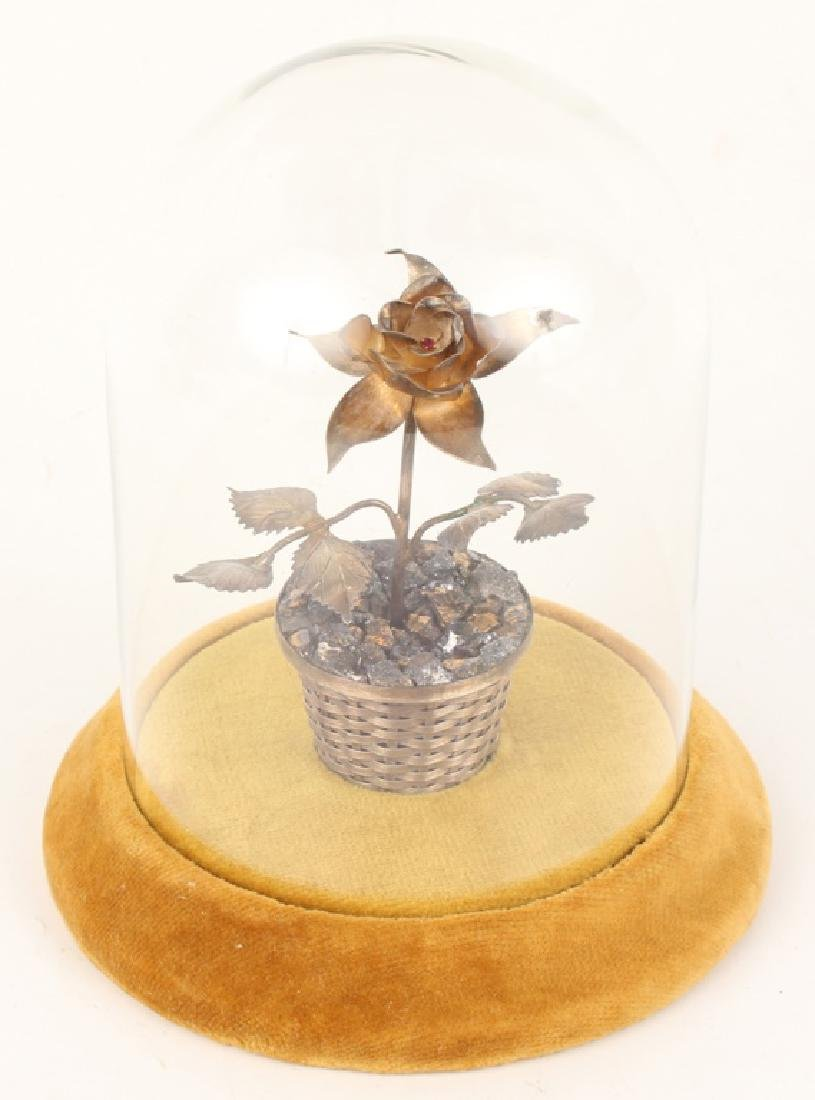 VINTAGE RANCHO ALEGRE STERLING POTTED FLOWER