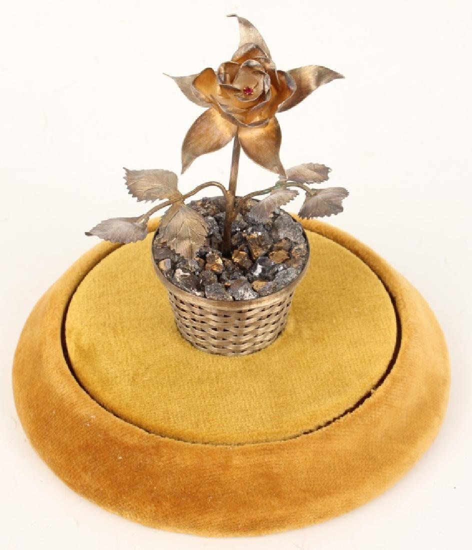 VINTAGE RANCHO ALEGRE STERLING POTTED FLOWER - 2