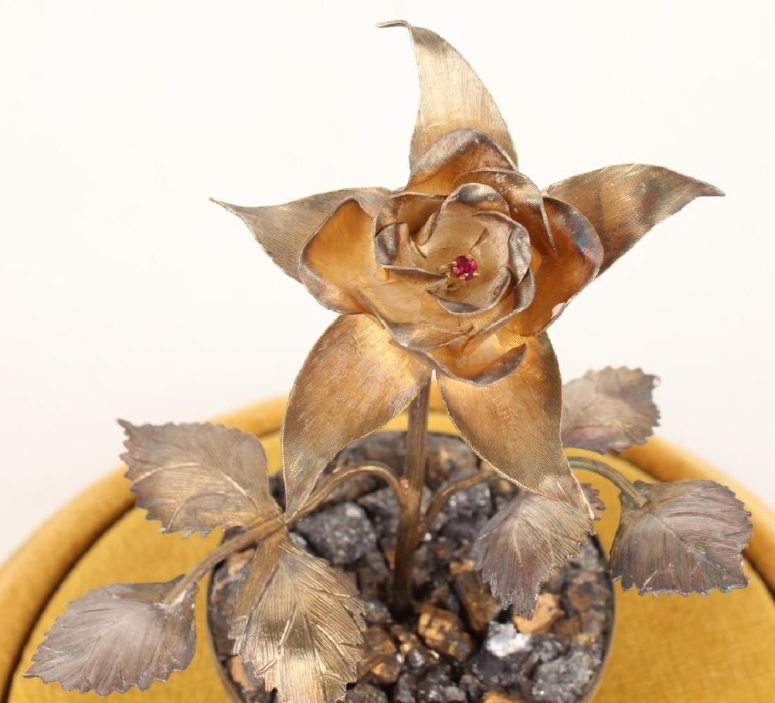 VINTAGE RANCHO ALEGRE STERLING POTTED FLOWER - 3