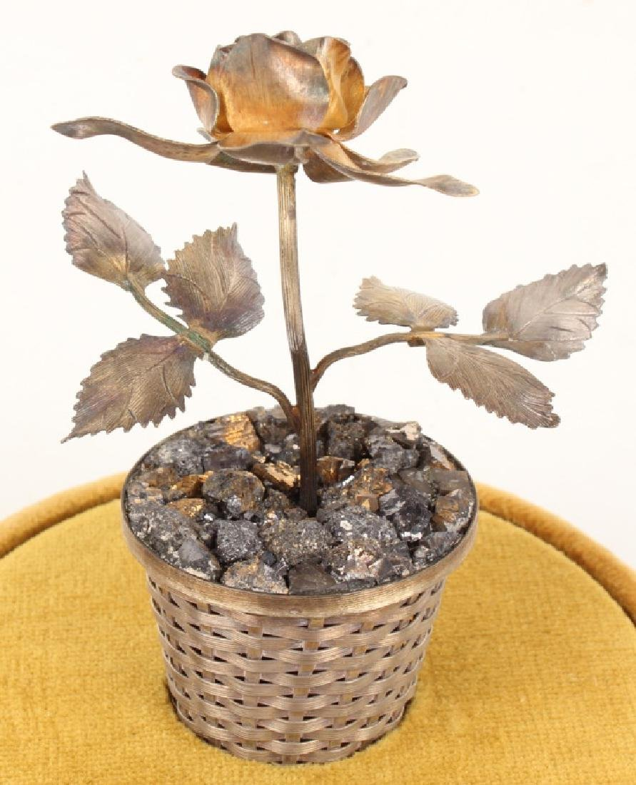 VINTAGE RANCHO ALEGRE STERLING POTTED FLOWER - 5