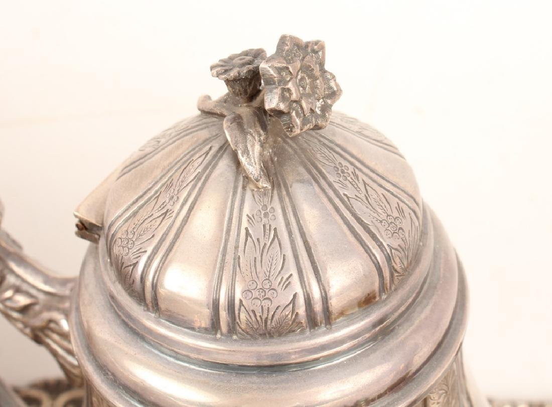 6 PIECE STERLING SILVER TEA SERVICE WITH TRAY - 3