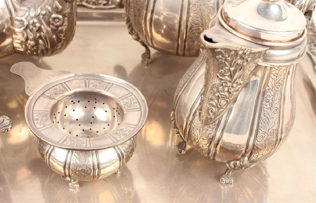 6 PIECE STERLING SILVER TEA SERVICE WITH TRAY - 4