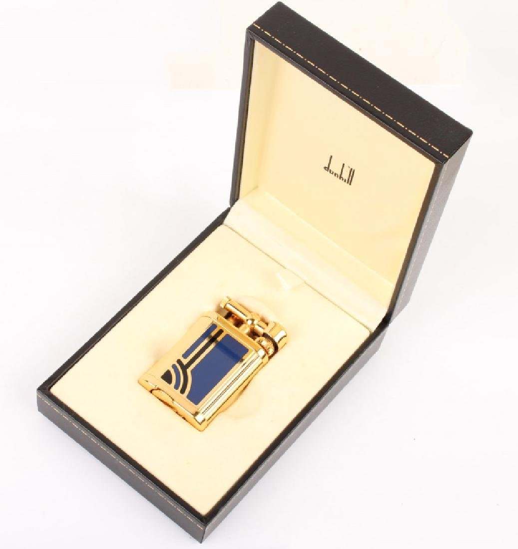 GOLD TONE DUNHILL UNIQUE ENAMEL LIGHTER