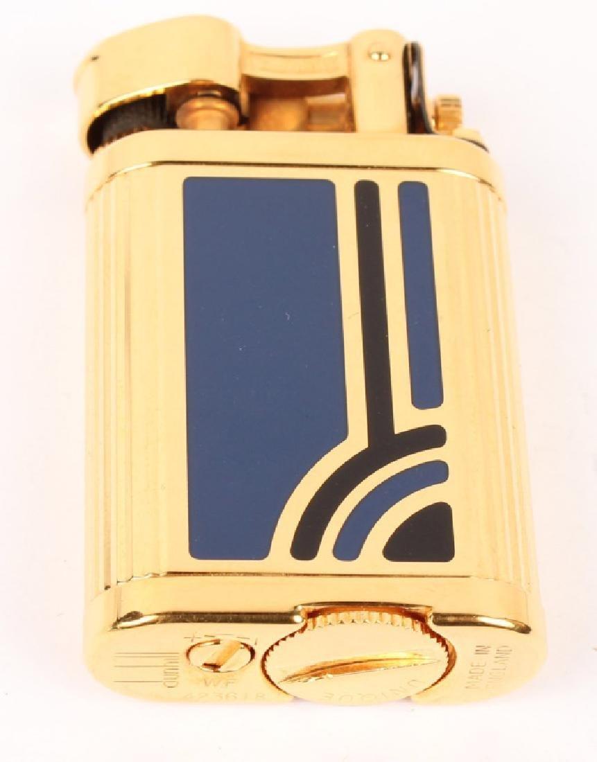 GOLD TONE DUNHILL UNIQUE ENAMEL LIGHTER - 2