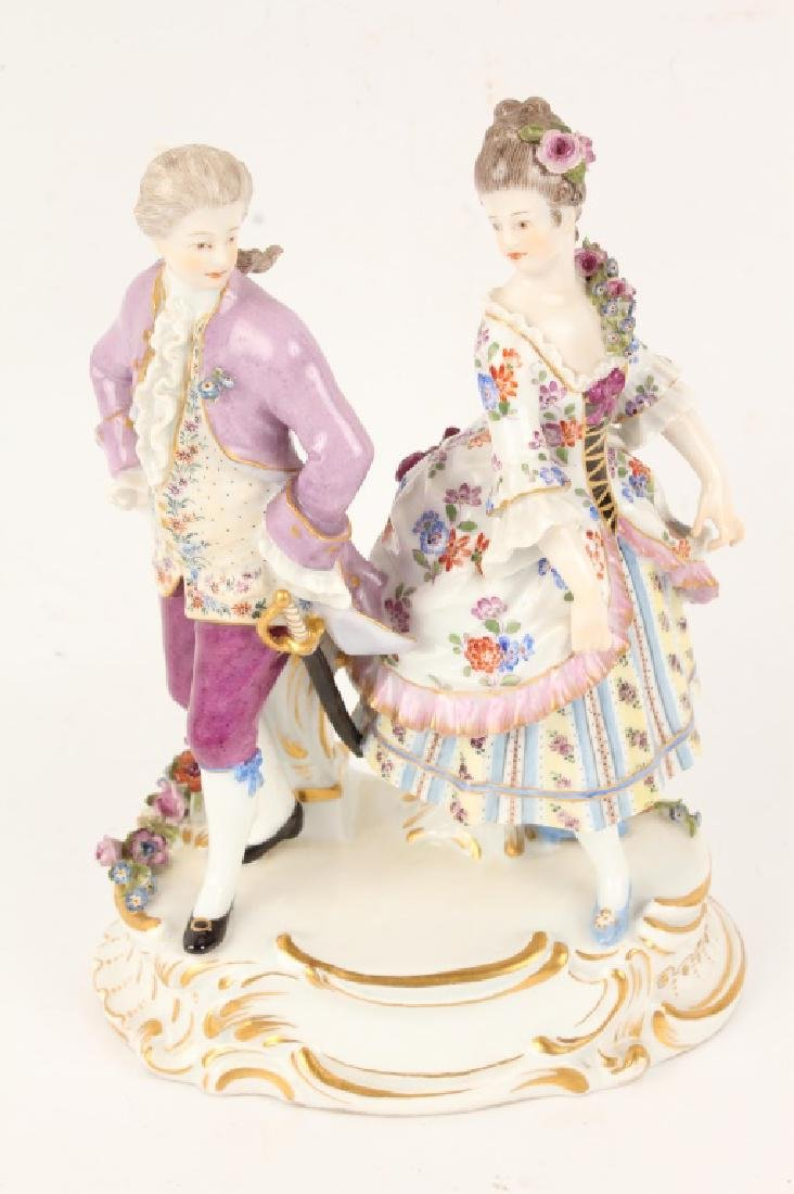 MEISSEN PORCELAIN LACE COUPLES FIGURINE