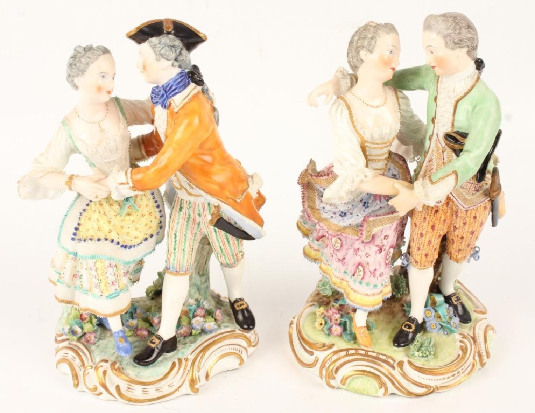 PAIR OF MEISSEN DANCING COUPLE FIGURINES