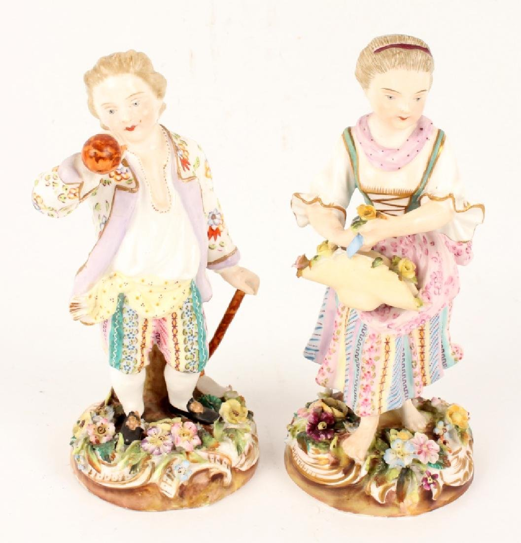 PAIR OF MEISSEN PORCELAIN FIGURINES