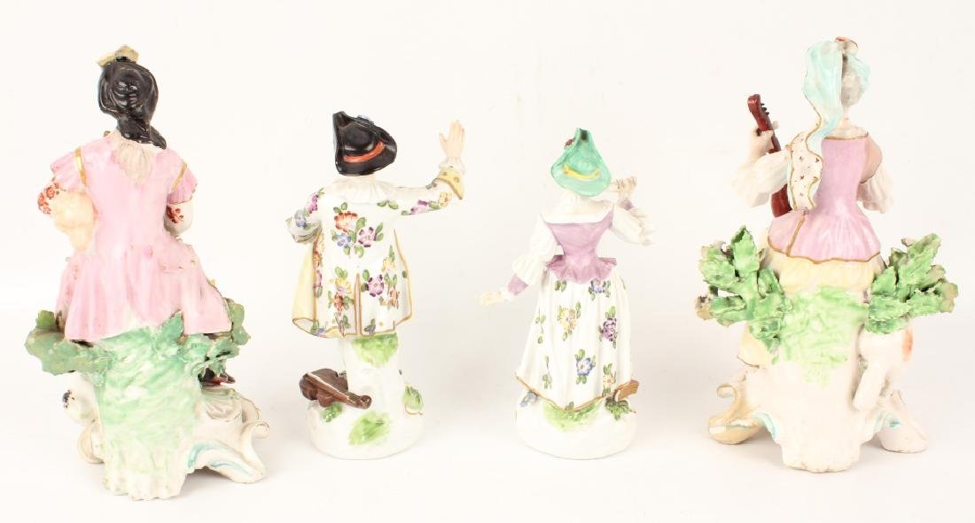 FOUR 20TH CENTURY EUROPEAN PORCELAIN FIGURINES - 2