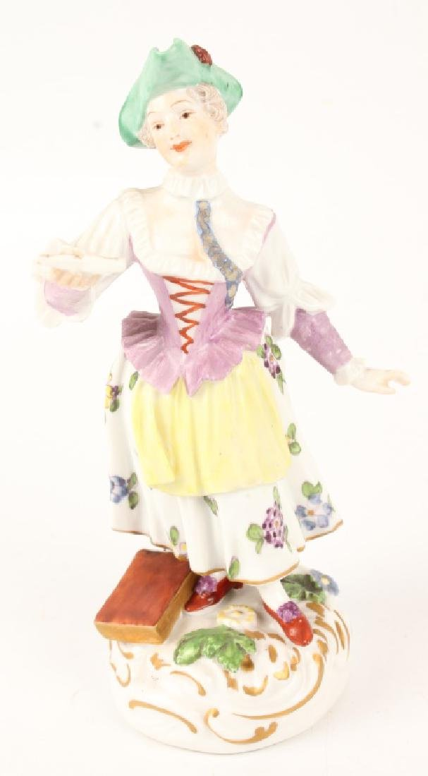 FOUR 20TH CENTURY EUROPEAN PORCELAIN FIGURINES - 6