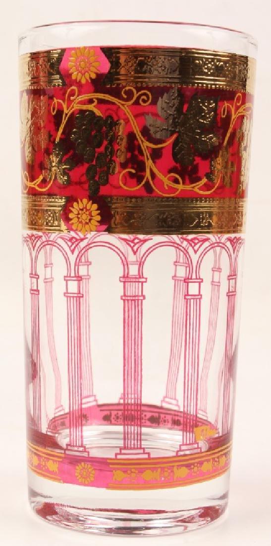 20 PIECES OF CERA GOLDEN GRAPES BURGUNDY GLASS - 3