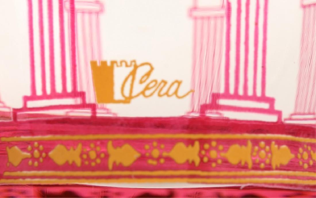 20 PIECES OF CERA GOLDEN GRAPES BURGUNDY GLASS - 4