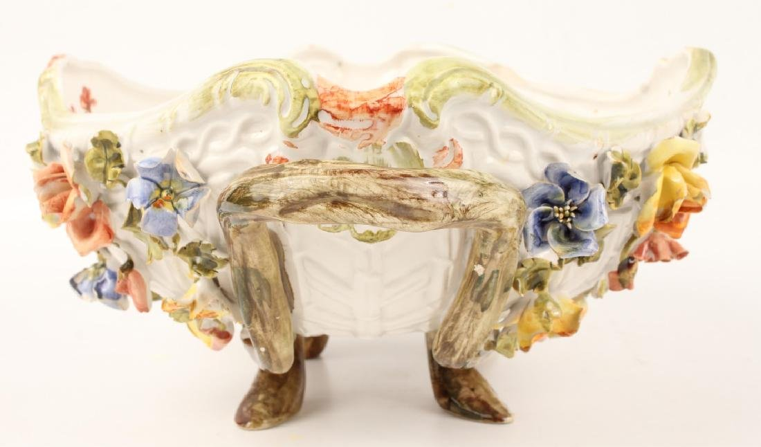 LE NOVE FLORAL FOOTED SERVING BOWL WITH HANDLES - 3