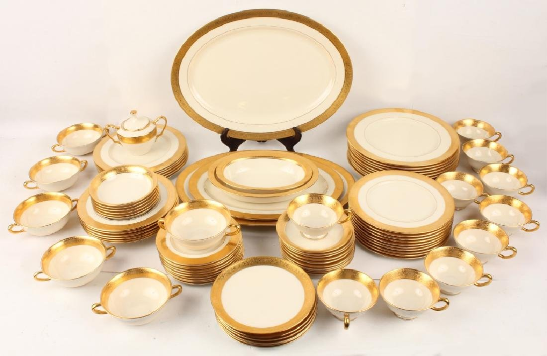 86 PIECE LENOX WESTCHESTER DINNERWARE COLLECTION