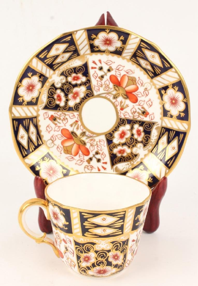 ROYAL CROWN DERBY IMARI DEMITASSE CUP & SAUCER