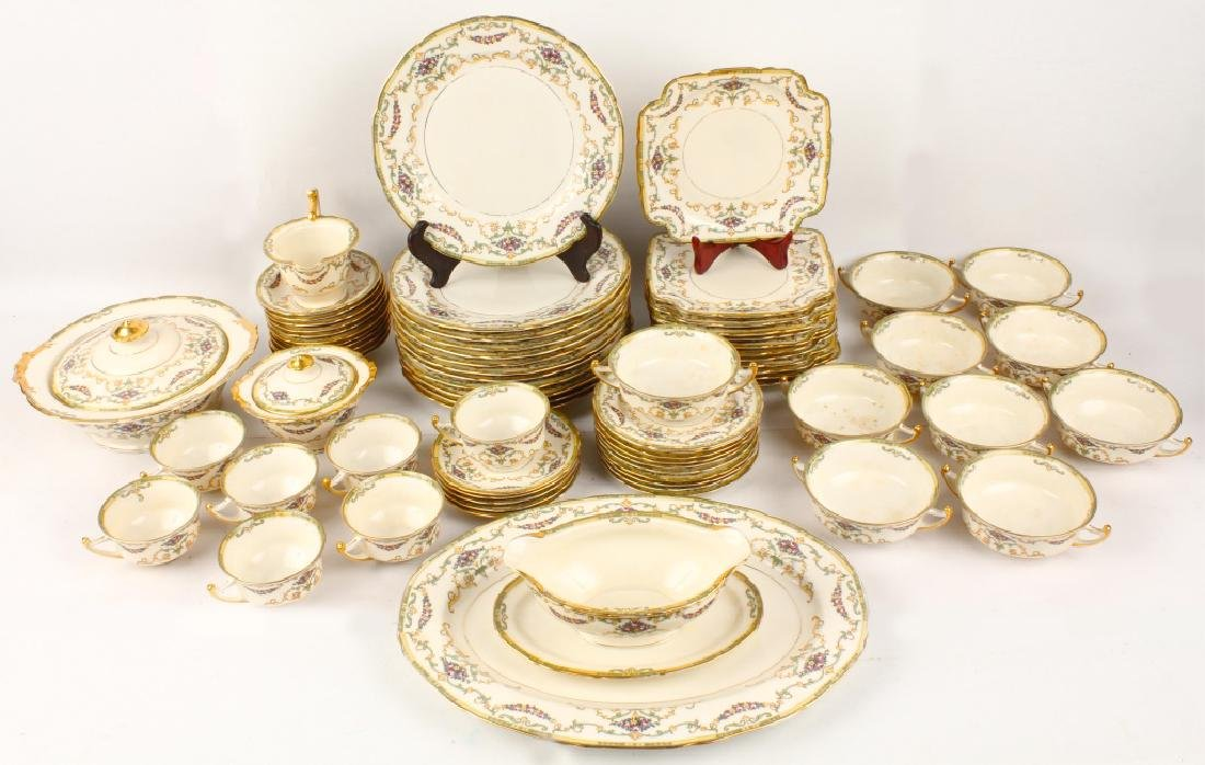 72 PIECES OF ROYAL EPIAG FLORAL SWAG DINNERWARE