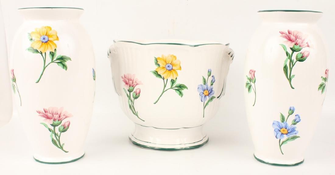 PAIR OF TIFFANY & CO. MATCHING VASES & LARGE BOWL