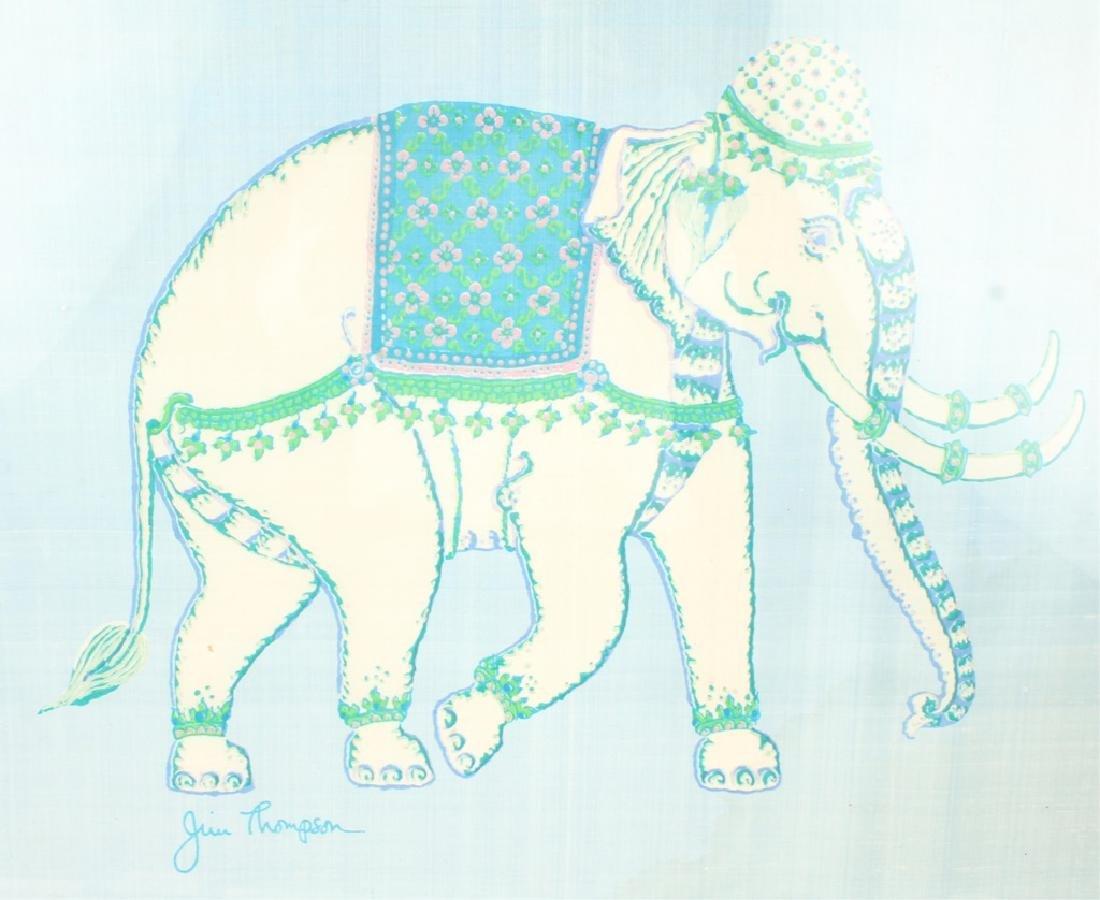 JIM THOMPSON SILK ELEPHANT FRAMED - 2