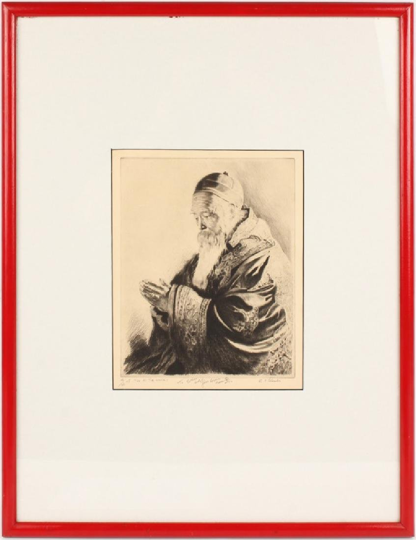 R.H. PALENSKE FOR ALL THE WORLD ETCHING