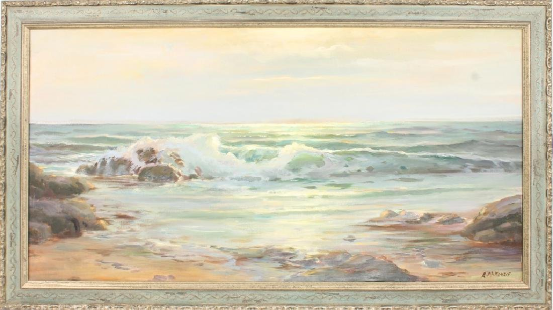 ARTIE MCKENZIE OIL SEASCAPE PAINTING