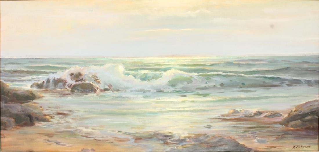 ARTIE MCKENZIE OIL SEASCAPE PAINTING - 2