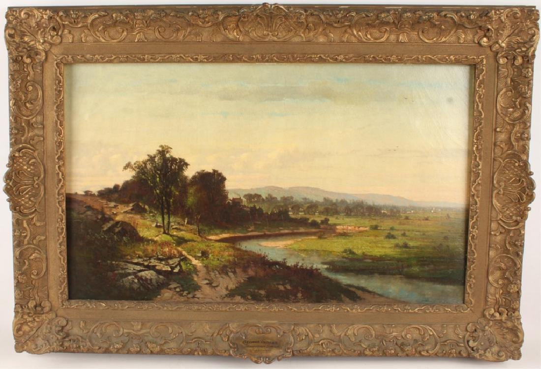 GEORGE INNESS LANDSCAPE ORIGINAL OIL PAINTING 1854