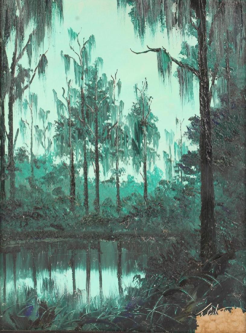 JAMES GIBSON FLORIDA HIGHWAYMEN OIL ON BOARD - 2