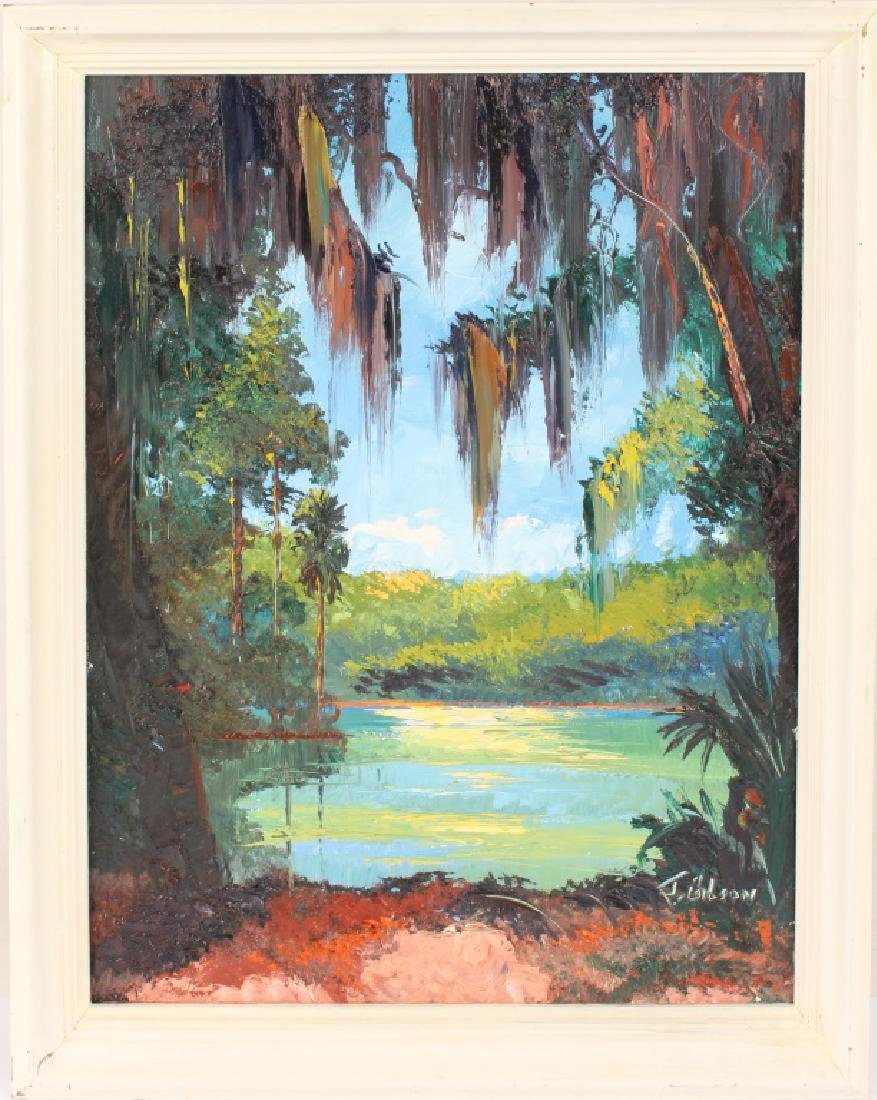 JAMES GIBSON FLORIDA HIGHWAYMEN WETLAND SCENE