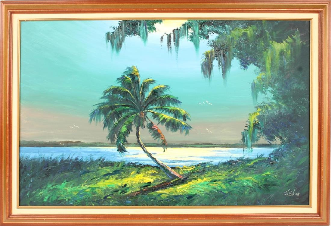 JAMES GIBSON FLORIDA HIGHWAYMEN RIVER SUNRISE OIL