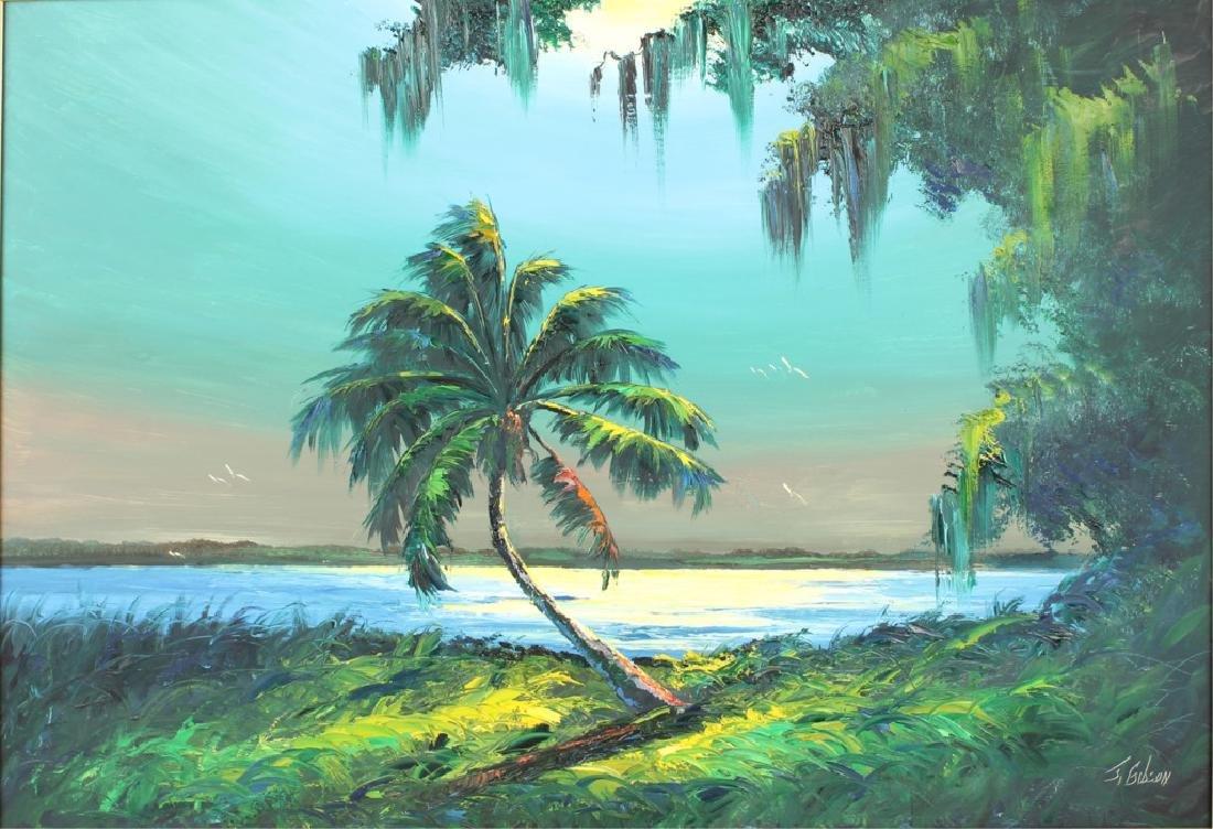 JAMES GIBSON FLORIDA HIGHWAYMEN RIVER SUNRISE OIL - 2