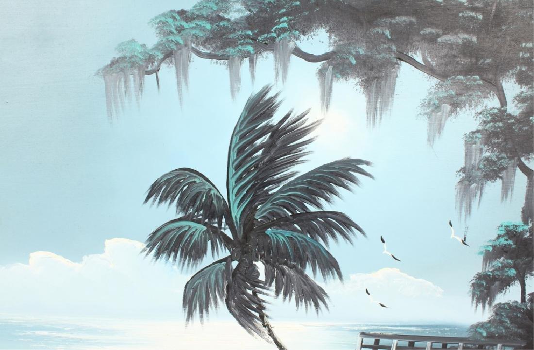 AL BLACK FLORIDA HIGHWAYMEN MOONLIT WETLAND OIL - 3