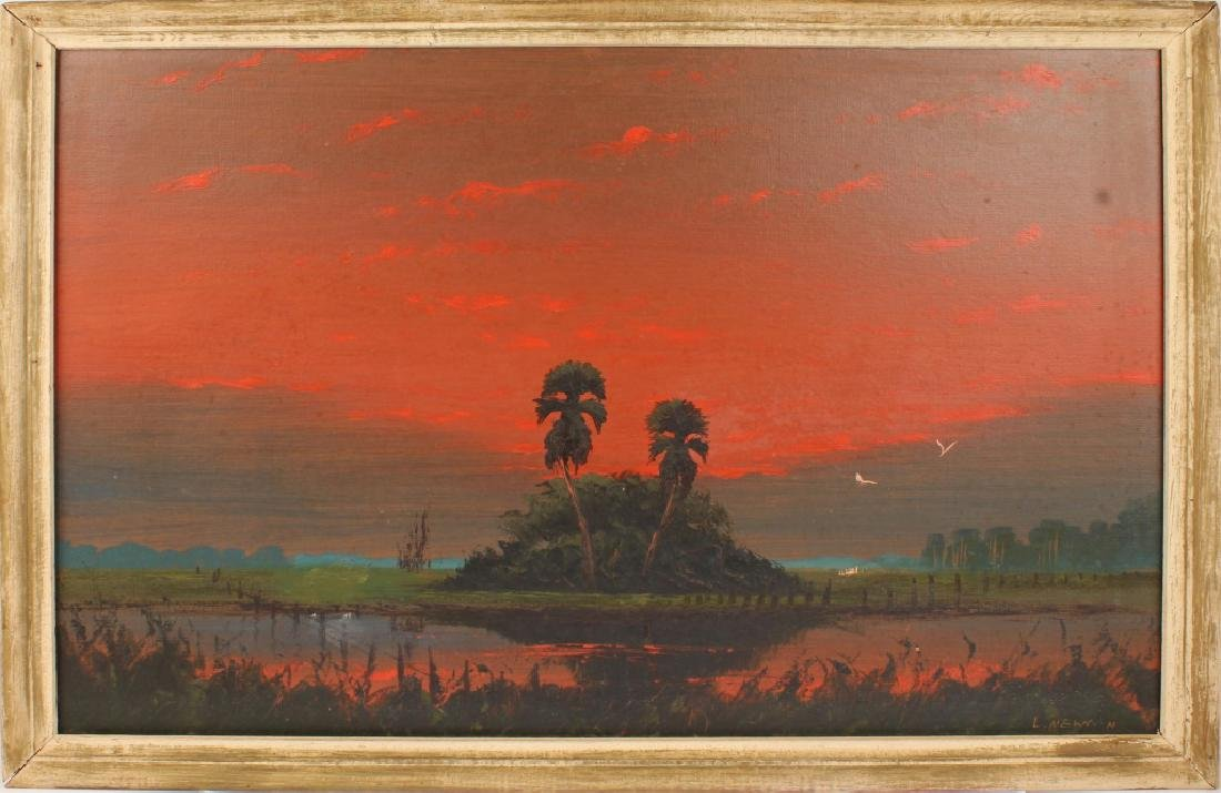 LEMUEL NEWTON FLORIDA HIGHWAYMEN SUNSET LANDSCAPE