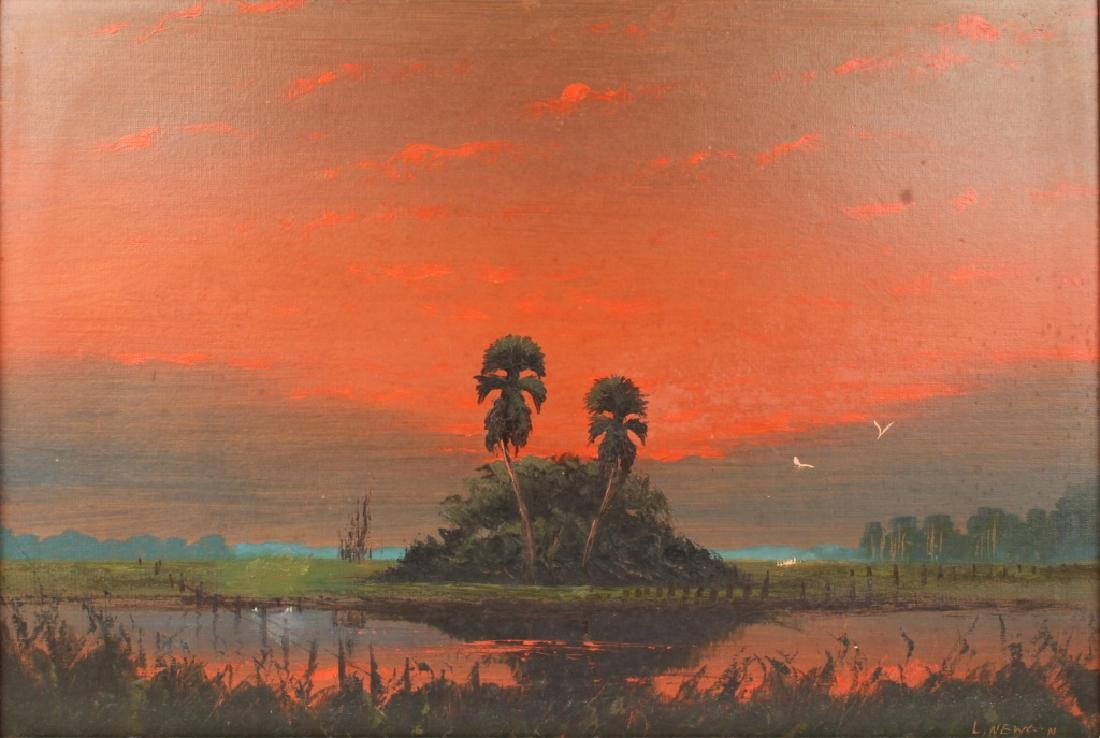 LEMUEL NEWTON FLORIDA HIGHWAYMEN SUNSET LANDSCAPE - 2