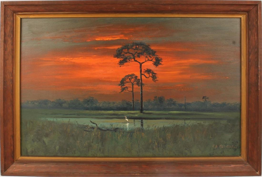 ROY MCLENDON FLORIDA HIGHWAYMEN BACKWATER SUNSET