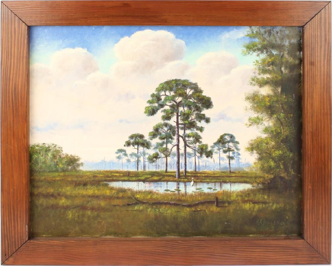 ROY MCLENDON FLORIDA HIGHWAYMEN OIL ON BOARD