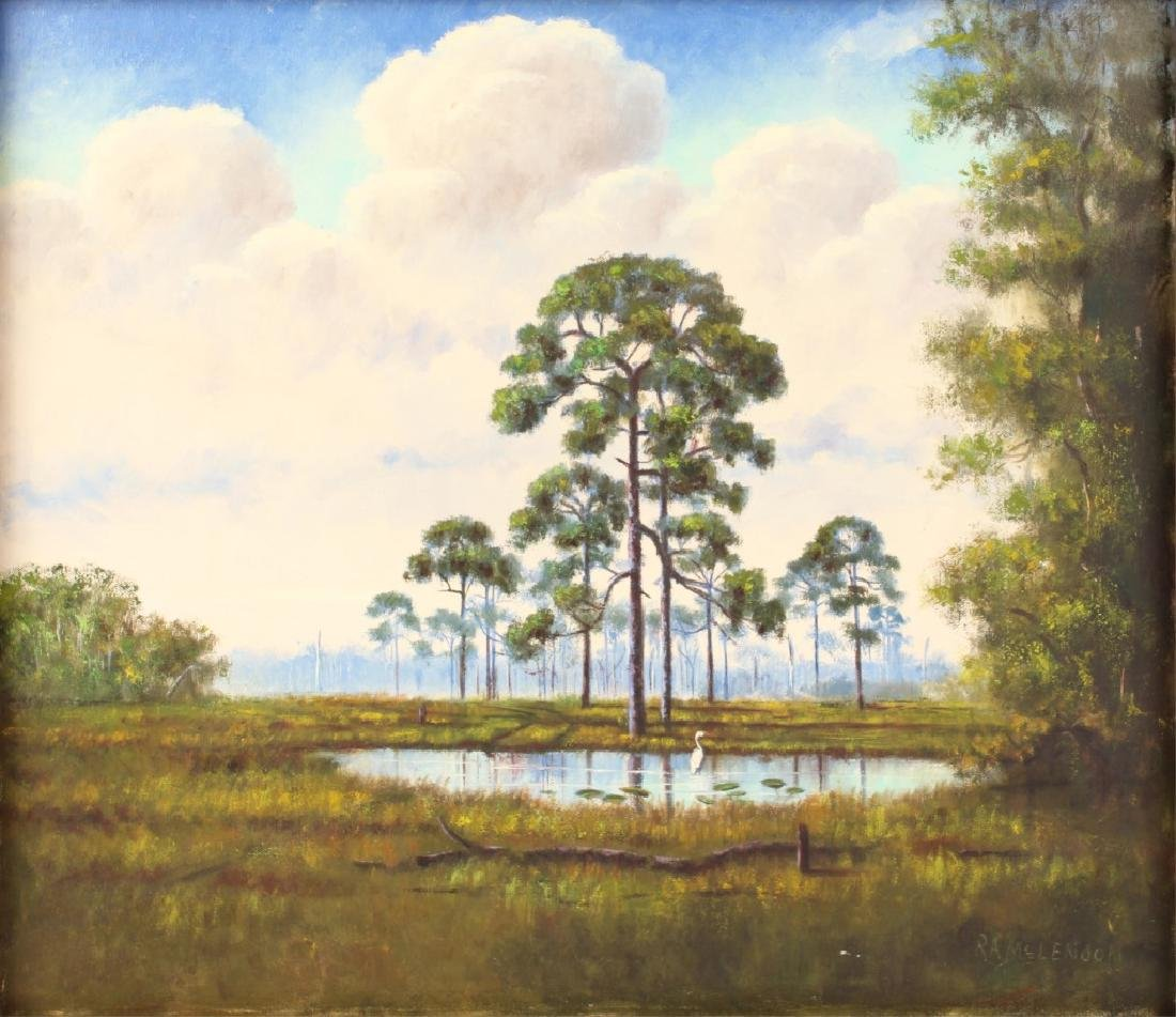 ROY MCLENDON FLORIDA HIGHWAYMEN OIL ON BOARD - 2