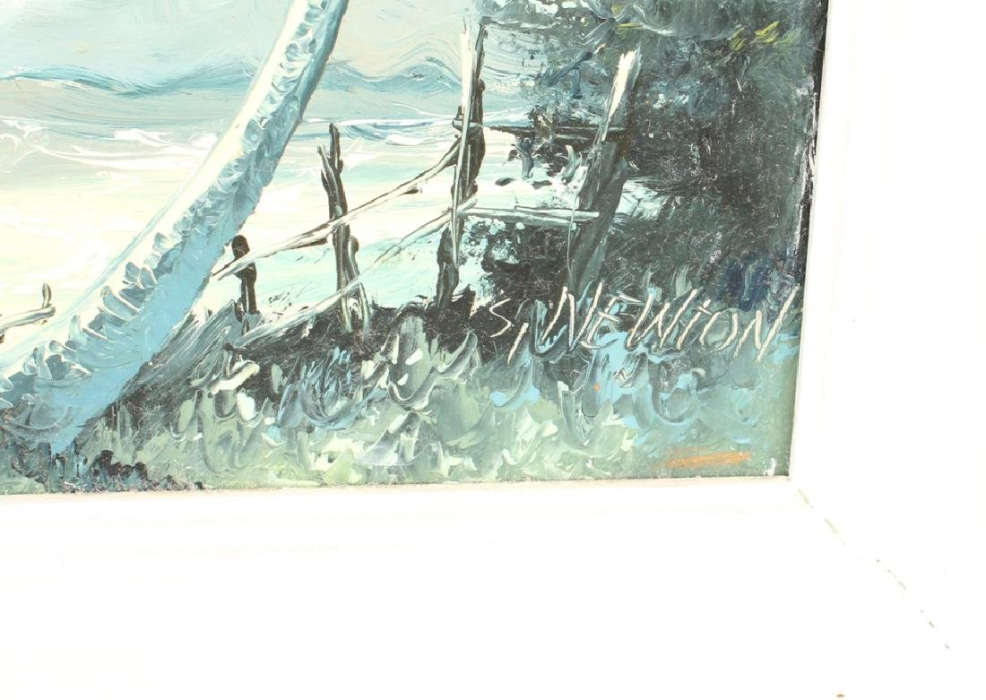 SAM NEWTON FLORIDA HIGHWAYMEN SEASCAPE OIL - 3