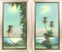 PAIR OF SAM NEWTON FLORIDA HIGHWAYMEN PAINTINGS