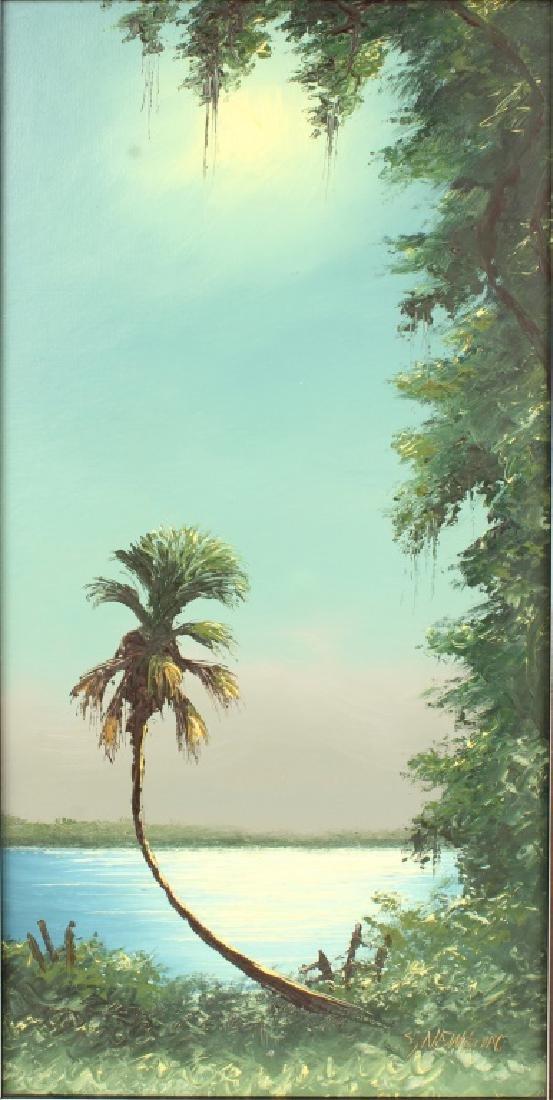 PAIR OF SAM NEWTON FLORIDA HIGHWAYMEN PAINTINGS - 2