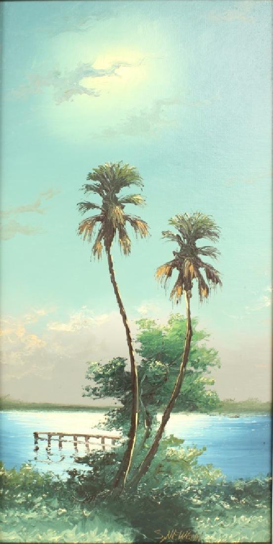 PAIR OF SAM NEWTON FLORIDA HIGHWAYMEN PAINTINGS - 3